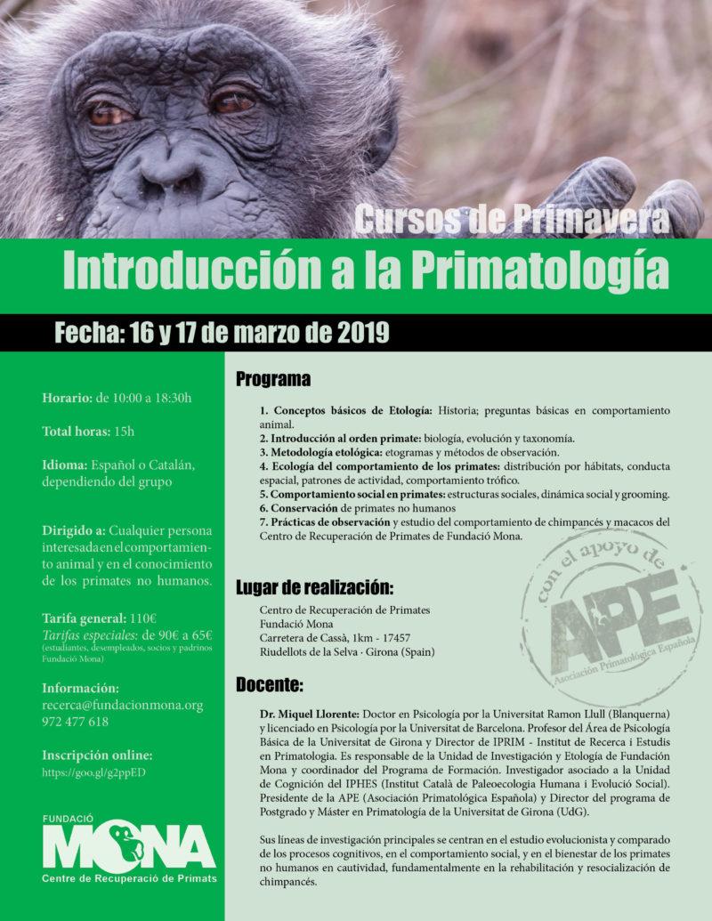 programa curso intro primatologia